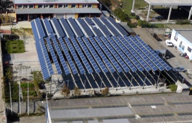 Realizzazione impianto con pannelli fotovoltaici solarworld presso sede della Besan con potenza da 80kWp